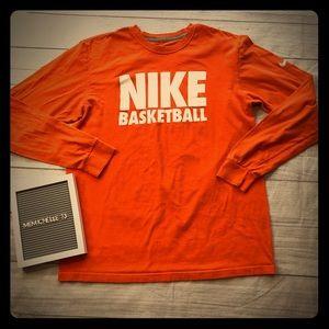 Nike Mens Size Large Orange Long Sleeve T-Shirt